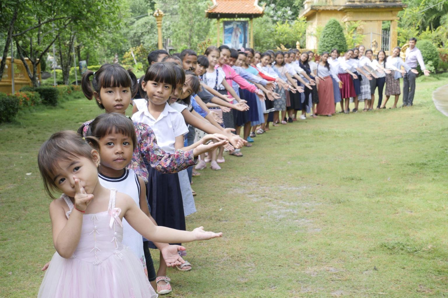Les enfants qui vivent dans notre refuge de battambang